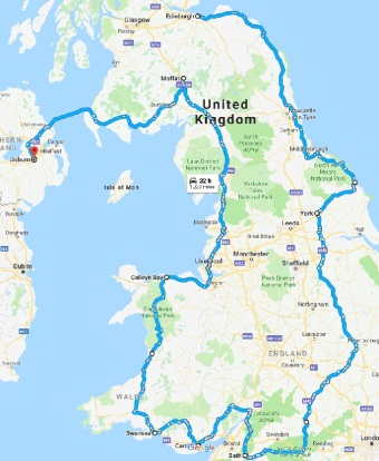 England & Wales route